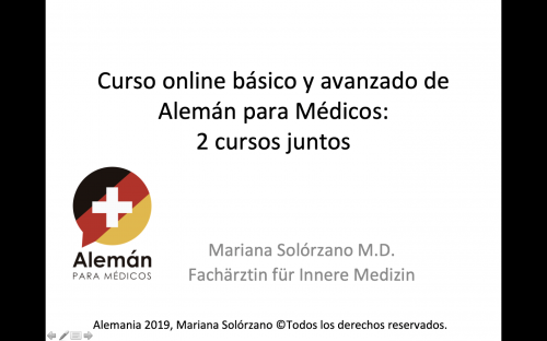 Paquete premium con dos cursos de alemán médico