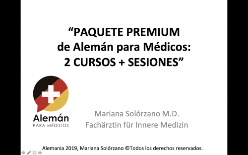 Paquete premium de cursos de alemán médico
